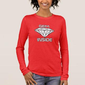 Geminsida - gränser för diamantvitsvart tröjor