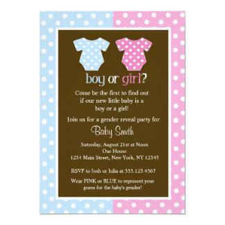 Gender avslöjer partybaby showerinbjudningar 12,7 x 17,8 cm inbjudningskort