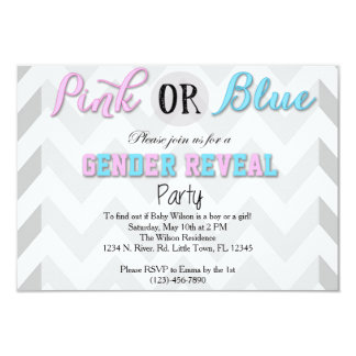 Gender avslöjer partyet 8,9 x 12,7 cm inbjudningskort