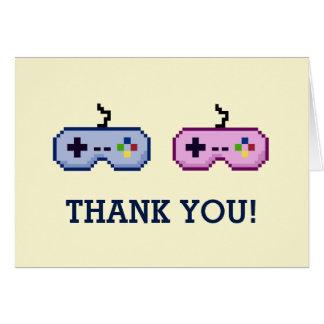 gender för gameren 8bit avslöjer tack hälsningskort