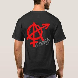Genderanarki (det tillbaka trycket) - röd tshirts