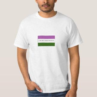 Genderqueer Nonbinary flaggapride dem pronomen Tee Shirt