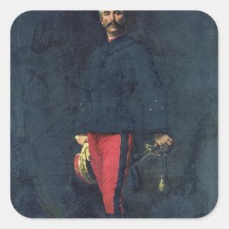 General Gaston Auguste Markis de Gallifet Fyrkantigt Klistermärke