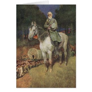 General Lee på hans berömda uppladdare, 'Traveller Hälsningskort