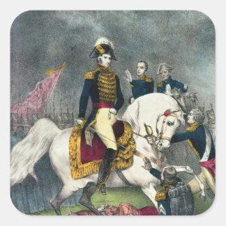 General William H. Harrison på striden Fyrkantigt Klistermärke