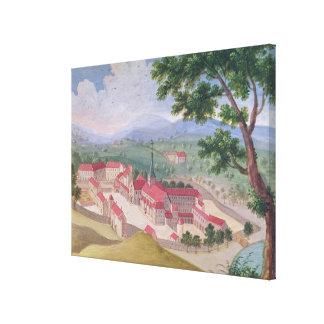 Generalen beskådar av abbeyen från öster canvastryck