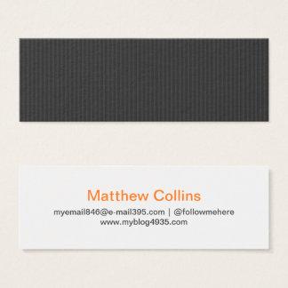 Generiskt elegantt personligt för grå modern litet visitkort
