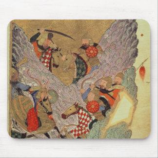 Genghis Khan (c.1162-1227) som in slåss kinesen Musmatta