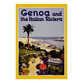 Genoa Genova italienvintage resor Poster