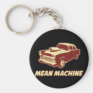 Genomsnittlig maskin rund nyckelring