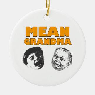 Genomsnittlig mormor julgransprydnad keramik