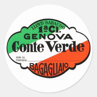 GenovaConteVerde Runda Klistermärken