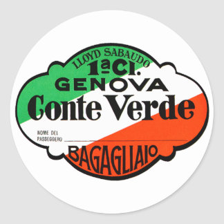 GenovaConteVerde Rund Klistermärke