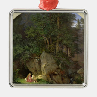 Genoveva i den Wood röjningen, 1839-41 Julgransprydnad Metall