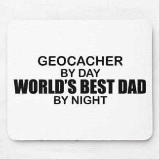 Geocacher världs bäst pappa vid natt musmatta