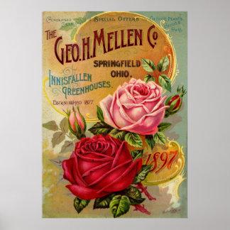 Geoen. H. Mellen Co. växthusannonsering Poster