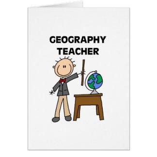 Geografilärare Hälsningskort