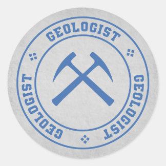 Geolog Runt Klistermärke