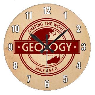 Geologi som formar världslogotypen stor klocka