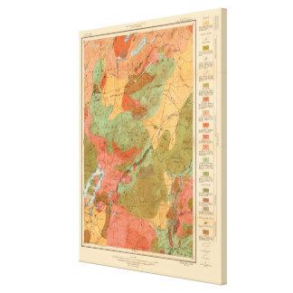 Geologic karta av den Lake Placid quadranglen - Canvastryck