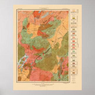 Geologic karta av den Lake Placid quadranglen - Poster