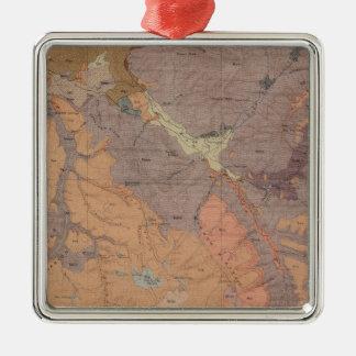 Geologikarta, Yellowstone medborgaredel, Wyoming Julgransprydnad Metall