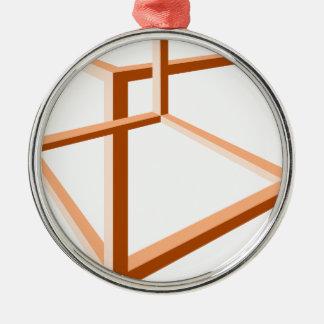 Geometri för illusion 3d för optisk illusion julgransprydnad metall