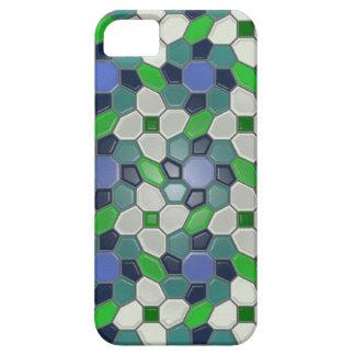 Geometri i blått (sunbursten) iPhone 5 fodral