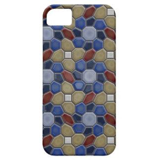 Geometri i blåttiPhone 5 iPhone 5 Case-Mate Skal