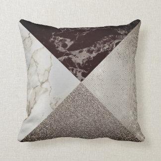 GeometriCaffe Noir Sparkly mer foxier guld- marmor Kudde