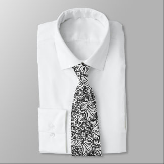 Geometrisk abstrakt för svart vit slips