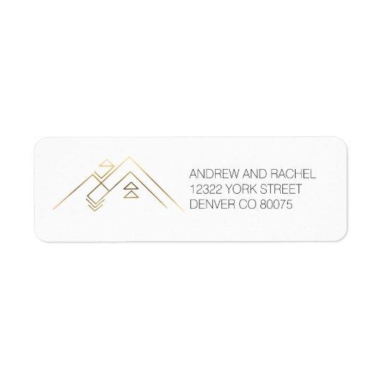 Geometrisk beställnings- adress för Mountains  Returadress Etikett