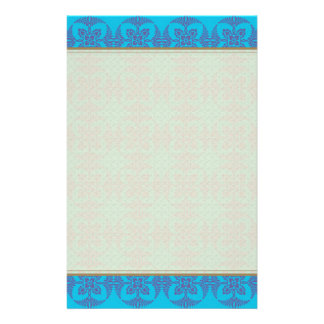 Geometrisk blommigt i ljusa blått brevpapper