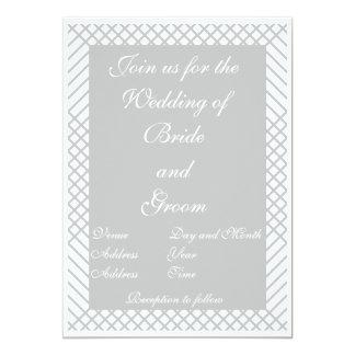 Geometrisk bröllopinbjudan 12,7 x 17,8 cm inbjudningskort