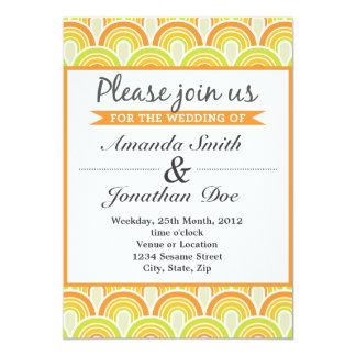 Geometrisk bröllopinbjudan för Retro vintage 12,7 X 17,8 Cm Inbjudningskort