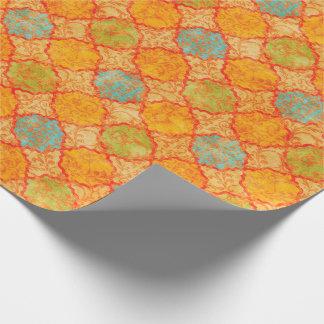 Geometrisk damast presentpapper