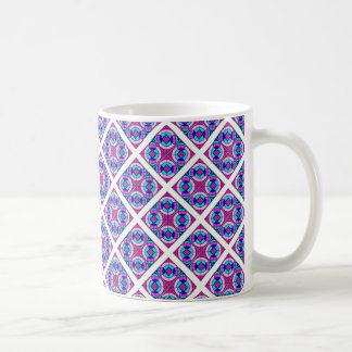 Geometrisk domkyrkamönstermugg i Pinks & deppighet Kaffemugg