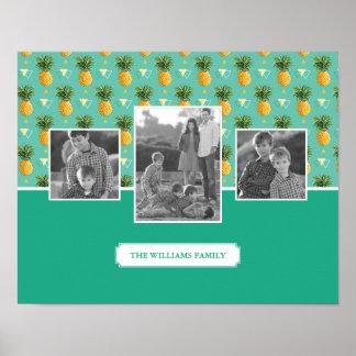 Geometrisk foto & text för familj för poster