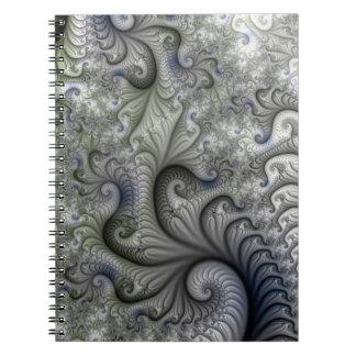 Geometrisk Fractalanteckningsbok Anteckningsbok Med Spiral