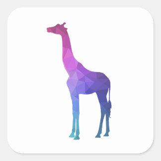 Geometrisk giraff med vibrerande färggåvaidé fyrkantigt klistermärke