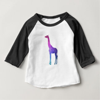 Geometrisk giraff med vibrerande färggåvaidé tee