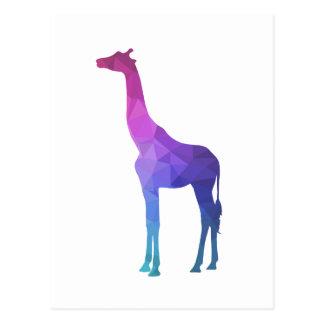 Geometrisk giraff med vibrerande färggåvaidé vykort
