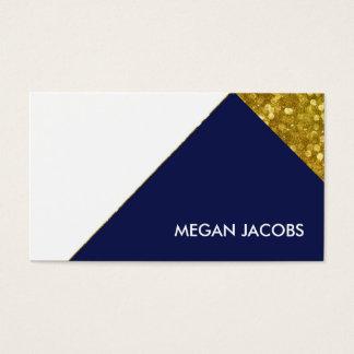 Geometrisk guld- gnistra för modern elegant visitkort