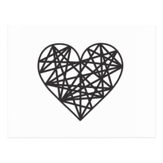 Geometrisk hjärta vykort