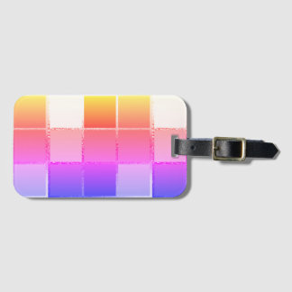 Geometrisk iPanemaCubist för rosa färgrik kub Bagagebricka
