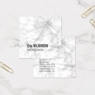 Geometrisk konst för abstrakt mönster fyrkantigt visitkort