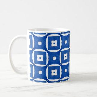 Geometrisk konst för ljust färgrikt kaffemugg