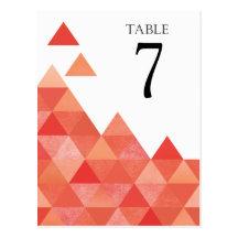 Geometrisk korall för triangelbordsnummer | vykort