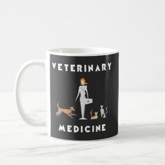 Geometrisk kvinna för veterinär- medicin kaffemugg