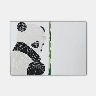 Geometrisk ledsen panda kom-ihåg block